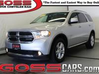 Bright Silver Metallic 2012 Dodge Durango SXT, AWD,