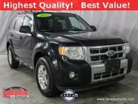 2012 Ford Escape Limited Black All Wheel Drive,