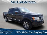 Black 2012 Ford F-150 Platinum 4WD 6-Speed Automatic