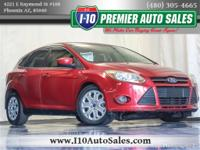 Red 2012 Ford Focus SE FWD 6-Speed Automatic with
