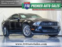 Clean CARFAX. 2012 Ford Mustang V6 Premium RWD 6-Speed