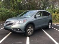 Clean CARFAX. Opal Sage Metallic 2012 Honda CR-V EX-L