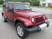 2012 JEEP WRANGLER UNLIMITED SAHARA, LEATHER, PW,PL,
