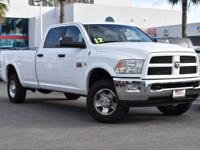 Bright White Clearcoat 2012 Ram 3500 SLT 4WD 6-Speed