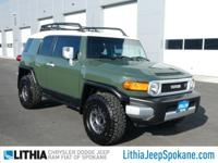 ARMY GREEN exterior and DARK CHARCOAL interior, FJ