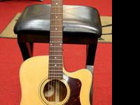 The D-40CE Standard is a mahogany dreadnought cutaway