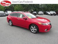 2013 Milano Red Acura TSX 5-Speed Automatic with