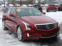 Crystal Red 2013 Cadillac ATS 3.6L Premium AWD 6-Speed