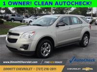 Clean Autocheck, One Owner, LS Package, Equinox LS, 4D