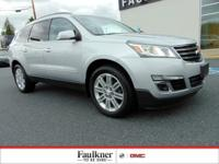 Clean CARFAX. 2013 Chevrolet Traverse LT 1LT Silver Ice