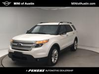 Clean CARFAX. White 2013 Ford Explorer XLT FWD 6-Speed