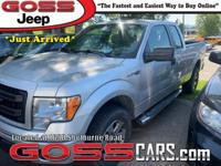 Silver 2013 Ford F-150 STX Super Cab, 4WD, 6-Speed