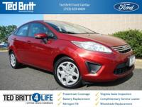 2013 Ford Fiesta SE Sedan in Ruby Red Metallic w/