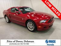 2013 Ford Mustang V6 CARFAX One-Owner. Odometer is