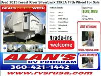 2013 Forest River Silverback 33REA Fifth Wheel Choices