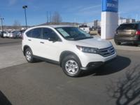 CARFAX One-Owner. 2013 Honda CR-V LX Diamond White AWD