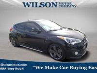 Ultra Black 2013 Hyundai Veloster Turbo w/Black FWD