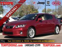 This 2013 Lexus CT 200h has Clean CARFAX. Odometer is