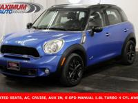 Awesome 2013 Mini Cooper S Countryman ALL4, finished in