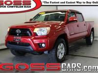 Red 2013 Toyota Tacoma TRD Sport V6 Double Cab, 4WD,