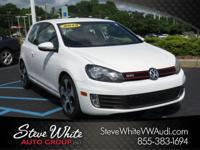 Candy White 2013 Volkswagen GTI FWD 6-Speed DSG