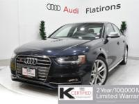 CARFAX 1-Owner, Dealer Inspected, Local Trade-In, S4