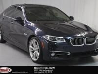 This 2014 BMW 535i has a Clean Carfax, Imperial Blue