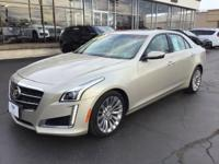 Gold 2014 Cadillac CTS 2.0L Turbo Luxury AWD 6-Speed