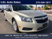 Stepping out in style, our 2014 Chevrolet Cruze LS