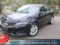 Clean CARFAX. Blue Ray Metallic 2014 Chevrolet Impala