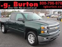 CARFAX One-Owner. Clean CARFAX. Green 2014 Chevrolet