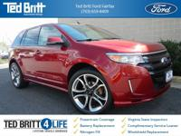 2014 Ford Edge Sport in Ruby Red Metallic w/ Charcoal