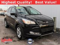 2014 Ford Escape SE Tuxedo Black CARFAX One-Owner.