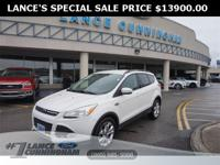 Clean CARFAX.2014 Ford Escape SE White Platinum Tricoat