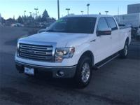 White 2014 Ford F-150 Lariat 4WD 6-Speed Automatic