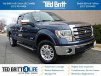 2014 Ford F-150 Lariat in Blue Jeans Metallic w/ Gray
