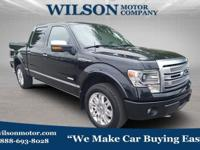 Black 2014 Ford F-150 Platinum 4WD 6-Speed Automatic