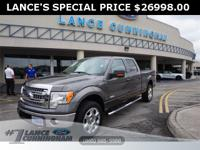 Clean CARFAX.2014 Ford F-150 XLT Sterling Gray Metallic