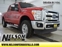 2014 Ford F-350SD Lariat Vermillion Red 4x4, This is a