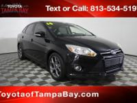 Clean CARFAX. Tuxedo Black Metallic 2014 Ford Focus SE