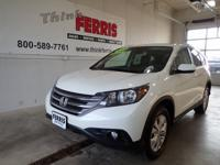 White Diamond Pearl 2014 Honda CR-V EX-L AWD 5-Speed
