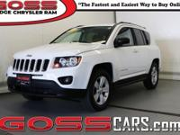 Bright White Clearcoat 2014 Jeep Compass Sport, 4WD,