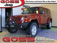 2014 Jeep Wrangler Unlimited Sahara, 4WD, 5-Speed