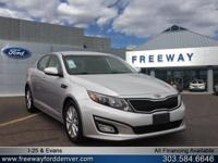 Bright Silver 2014 Kia Optima EX FWD 6-Speed Automatic