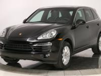 2014 Porsche Cayenne AWD in Black over Black leather.