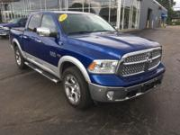 Blue 2014 Ram 1500 Laramie 4WD 8-Speed Automatic HEMI