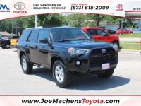 CARFAX One-Owner. Black 2014 Toyota 4Runner SR5 4WD