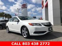 Clean CARFAX. White 2015 Acura ILX 2.0L FWD 5-Speed