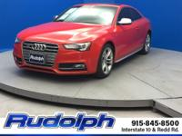 Clean CARFAX. Misano Red Pearl Effect 2015 Audi S5 3.0T