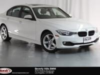 This 2015 BMW 328i has a Clean Carfax, Alpine white